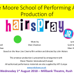 Hairspray JR. Wed August 1st 2018 16:00 & 19:30 Tickets €12